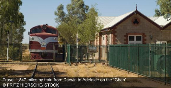 South Through Australia By Train