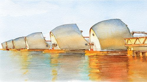 Holding Back the Waters at the Thames Flood Barrier, London