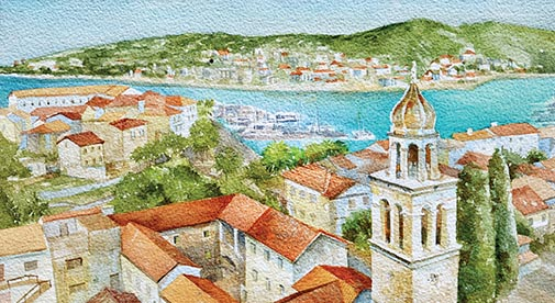 Village Life Away from the Cruise Liners in Vela Luka, Croatia