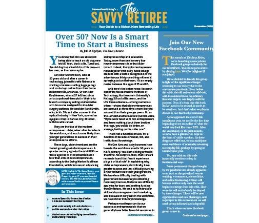 The Savvy Retiree – December 2020
