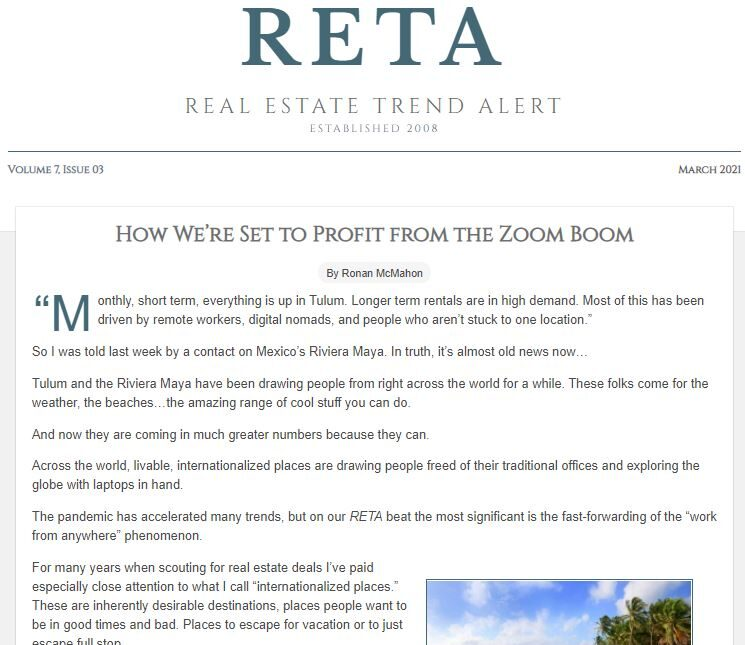 March 2021 – How to Profit from the Zoom Boom
