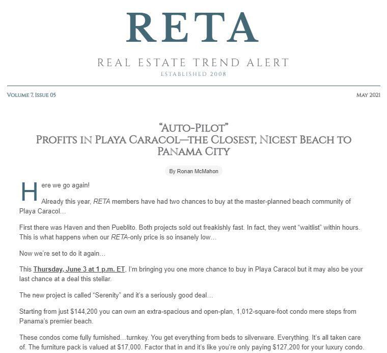 May 2021 – Playa Caracol…Back by Popular Demand!